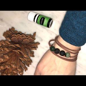 Jewelry - Essential Oil Diffuser Wrap Bracelet / Handmade